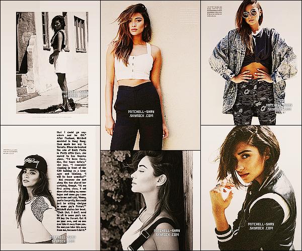 De toute nouvelles photos de Shay réalisée pour le magazine « Nylon  » pour Mai 2014.