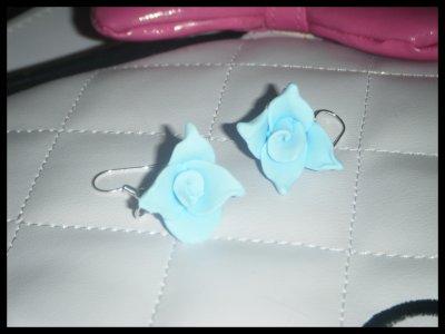 """° Boucles """"Rose ciel"""" °"""