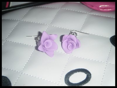 "° Boucles ""Rose Lilas"""