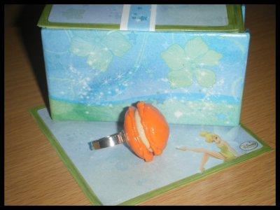 ° Bague Macaron Mandarine / Orange °