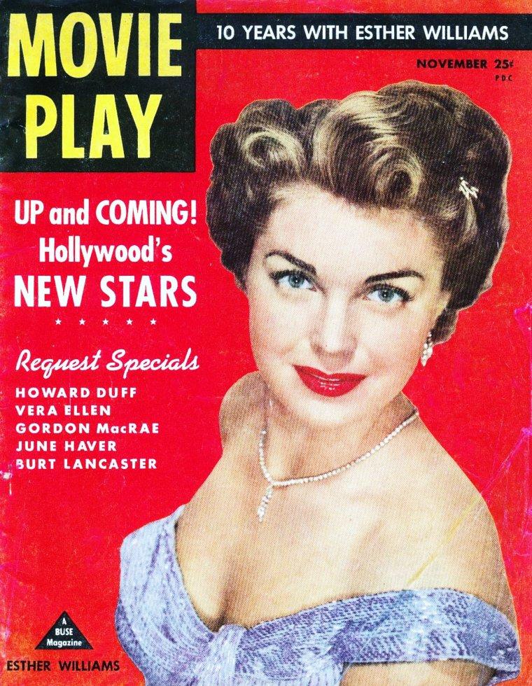 COVERS de STARS : de haut en bas : Debbie REYNOLDS / Gene TIERNEY / Deborah KERR / Elizabeth TAYLOR / Esther WILLIAMS / Ingrid GOUDE / Jane RUSSELL / Janet BLAIR