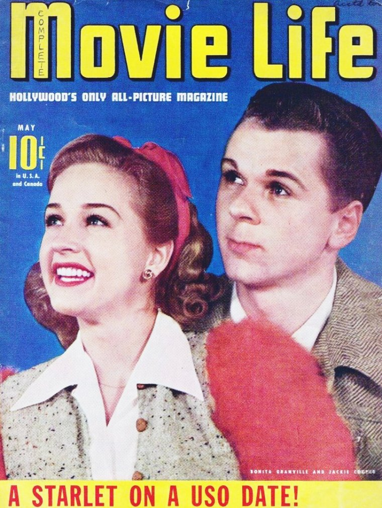 Bonita GRANVILLE est une actrice et productrice américaine, née à Chicago (Illinois) le 2 février 1923, décédée d'un cancer à Santa Monica (Californie) le 11 octobre 1988.