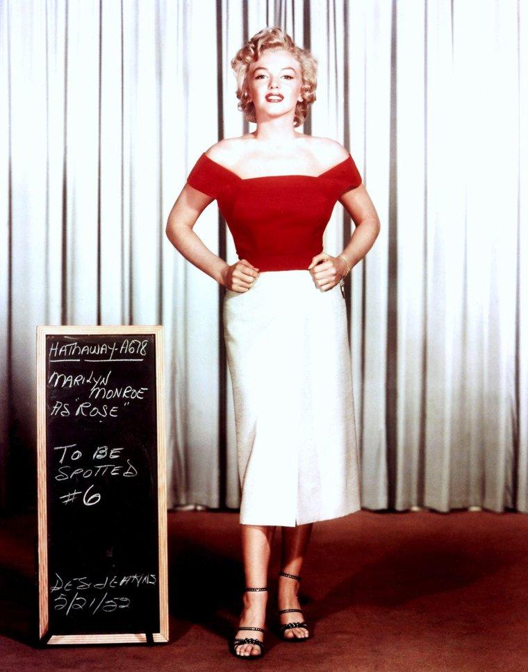 "Marilyn MONROE's wardrobe for ""Niagara"" (1952)."