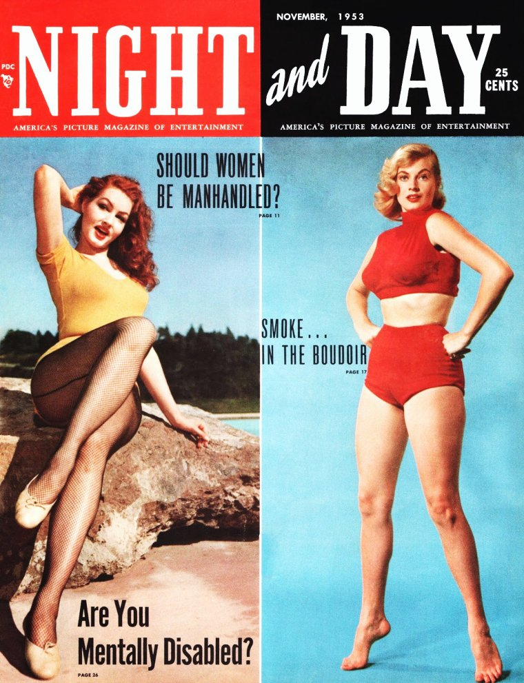 COVERS estivales de STARS : de haut en bas : Betty GRABLE / Carole LANDIS / Jane RUSSELL / Joan SMITH / Julie NEWMAR et Anita EKBERG / Olga San JUAN / Rhonda FLEMING / Sue LYON