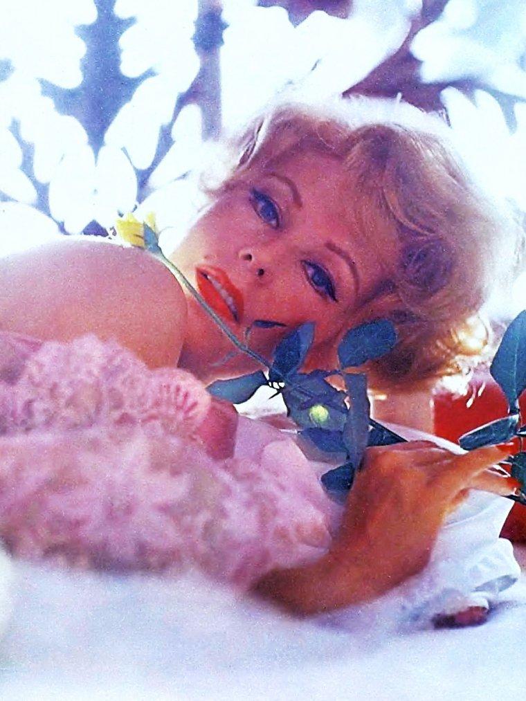 """Arlene DAHL / Après une curieuse parenthèse française (qui lui a fait rencontrer Jean RICHARD et Serge GAINSBOURG), Arlene DAHL apparaît dans une dizaine de téléfilms ou épisodes de série, notamment face à son fils Lorenzo LAMAS et dans les séries fleuves """"On ne vit qu'une fois"""" et """"La Force du destin"""", demeurant active (comme Eleanor PARKER, une autre rousse des années 50) jusque dans les années 90."""