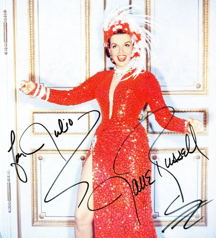 Nouveaux autographes de STARS avec des photos inédites au blog... (de haut en bas) Eva Marie SAINT / Jane RUSSELL / Jayne MANSFIELD / Audrey HEPBURN / Angie DICKINSON / Ava GARDNER / Anne FRANCIS / Ginger ROGERS