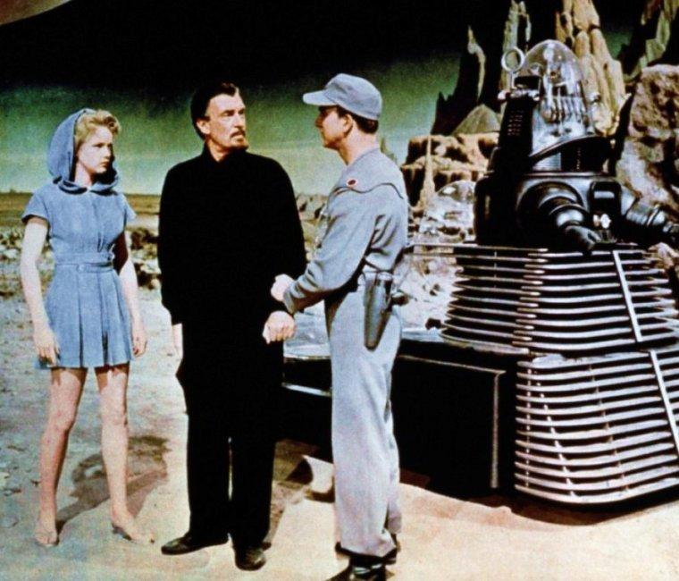 """1956 / Cette année sort sur les écrans ce film de science-fiction, """"Planète interdite"""" avec Anne FRANCIS."""