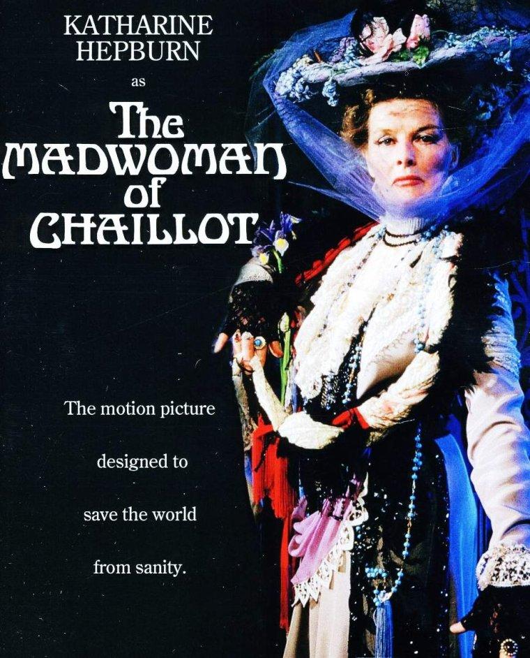 """1969 / FILM CULTE oublié : """"La folle de Chaillot"""" (The madwoman of Chaillot) avec Katharine HEPBURN..."""
