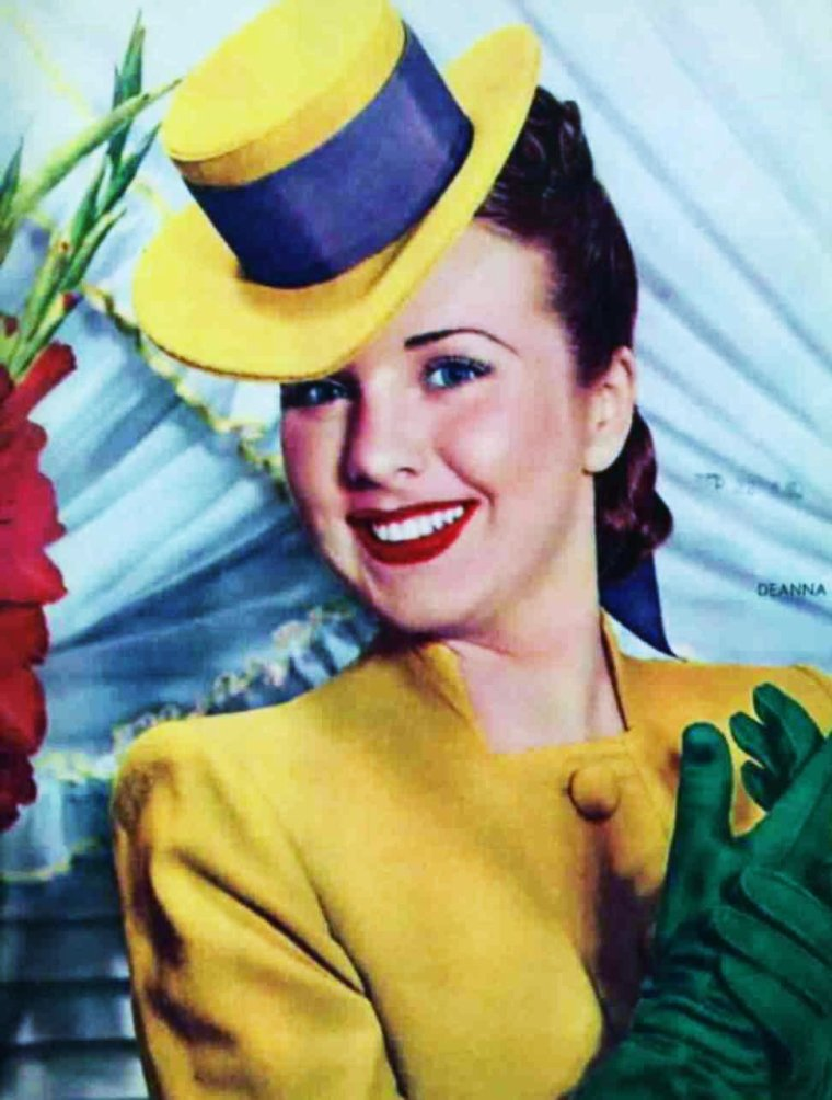 Le vintage par excellence avec Deanna DURBIN 30-40's et ses tenues aux couleurs de bonbons acidulés...
