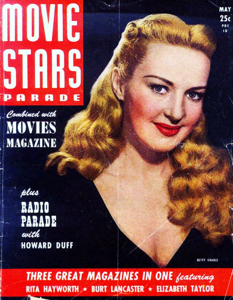 RARE Covers de STARS... (de haut en bas) Alexis SMITH / Betty GRABLE / Ann SOTHERN and Nanette FABRAY / Diana LYNN / Ginger ROGERS / Gloria De HAVEN / Ida LUPINO / Doris DAY