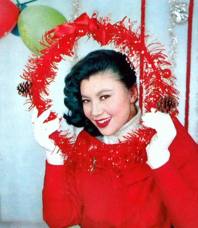 VINTAGE JAPANESE ACTRESSES 50-60's (de haut en bas) Betty Loh TI / Chang LI / Diana CHANG / Lin DAI / Margaret Tu CHUAN / Carrie Ku MEI / Zhuang Xue FANG / Mai LING