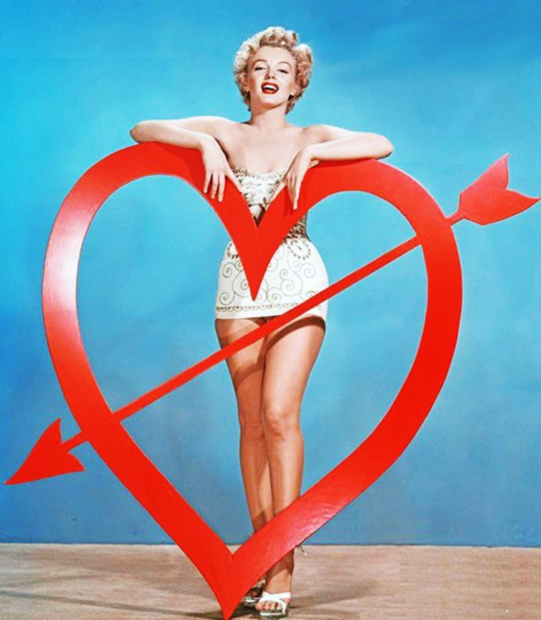 14 FEVRIER / Happy VALENTINE-DAY !... with : June ALLYSON / Rhonda FLEMING / Rita HAYWORTH / June LOCKHART / Elizabeth TAYLOR / Marilyn MONROE / Debbie REYNOLDS / Lucille and Desi