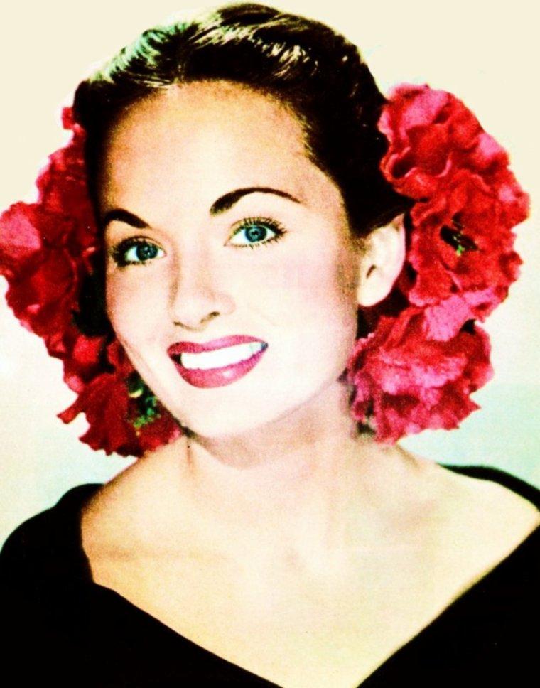 """""""Quand une jeune fille se met une fleur dans les cheveux, quand une plaisanterie surgit au cours d'une conversation, quand nous nous perdons dans le clair-obscur d'un crépuscule, tout cela n'est-il pas de l'art ?"""" """"Ferdydurke"""" (1937) Citations de Witold GOMBROWICZ (de haut en bas) Mitzi GAYNOR / Shirley JONES / Gina LOLLOBRIGIDA / Ann BLYTH / Brigitte BARDOT / Dorothy LAMOUR / Suzanne PLESHETTE / Betty HUTTON"""