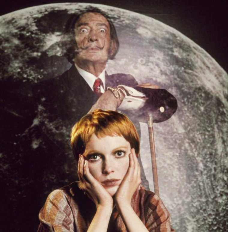 CURIOSITE / Mia FARROW and Salvador DALI by Philippe HALSMAN (1964)