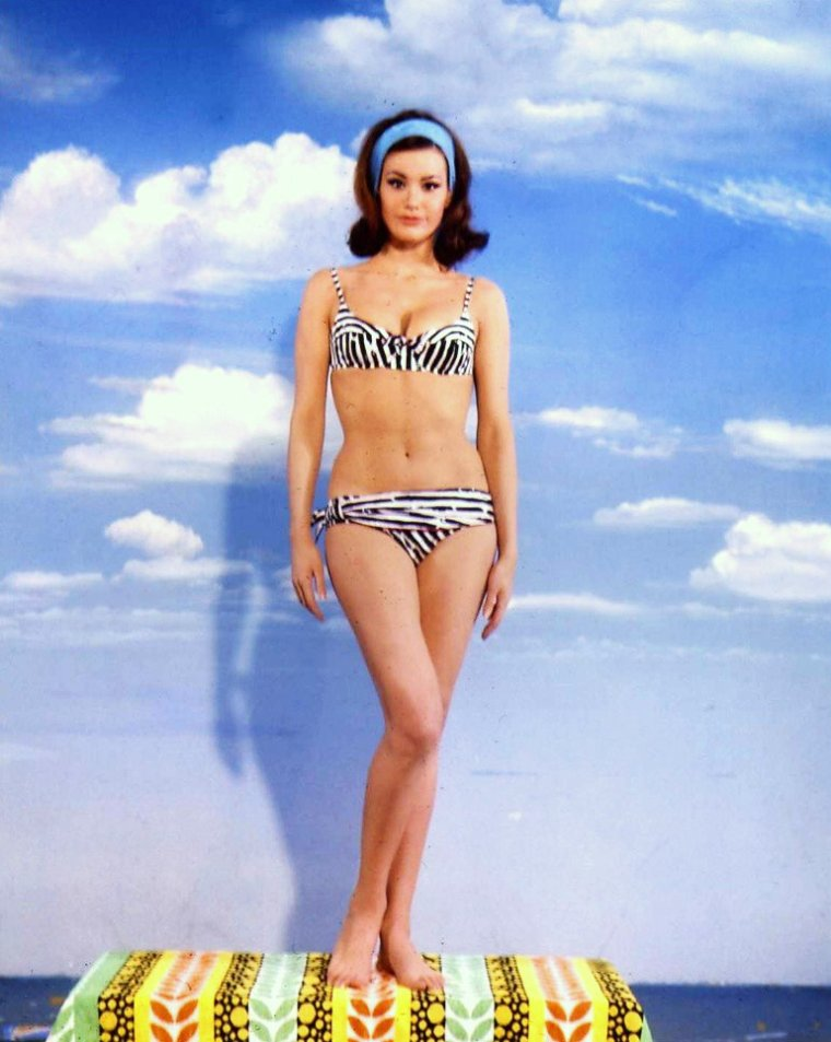 """MESDAMES / Certes il est un peu tôt, mais afin d'anticiper les beaux jours, voici quelques maillots de bain (pour tous les goûts, sachant que le """"vintage"""" revient toujours à la mode) à peut être adopter cet été sur les plages... (de haut en bas) June HAVER / Claudine AUGER / Lynn BARI / Esther WILLIAMS / Marilyn / Béatrice ALTARIBA / Jayne MANSFIELD / Celeste HOLM"""