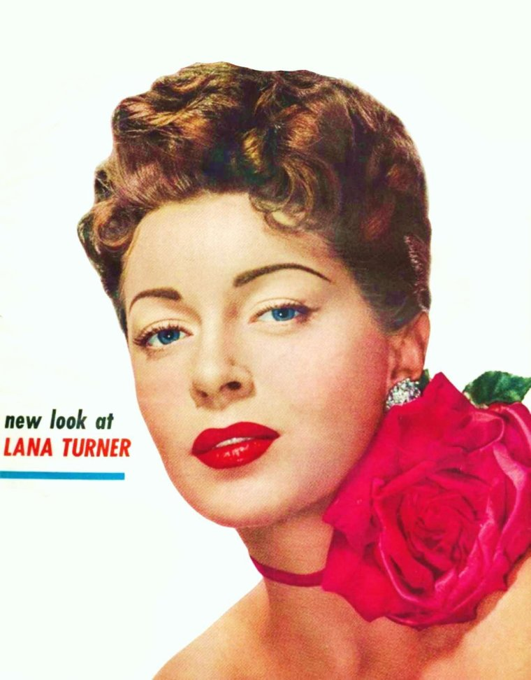 NEW-LOOK / Quand un temps, nos STARS changent de tête... (de haut en bas) Lana TURNER / Shirley JONES / Sophia LOREN / Virna LISI / Jayne MANSFIELD / Brigitte BARDOT / Ginger ROGERS / Ava GARDNER
