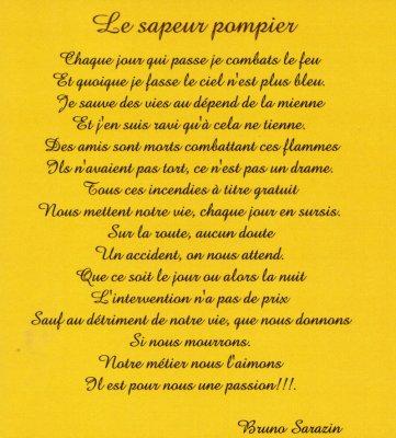 Poème De Sapeur Pompier 4 Ici Cest Moi Le Patron