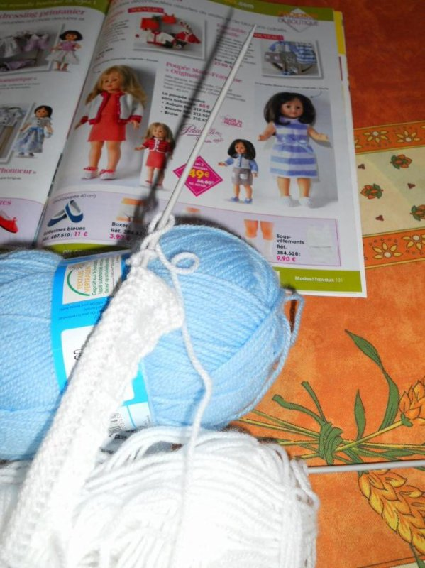 2017 avril / kit tricot CAMILLE en cours