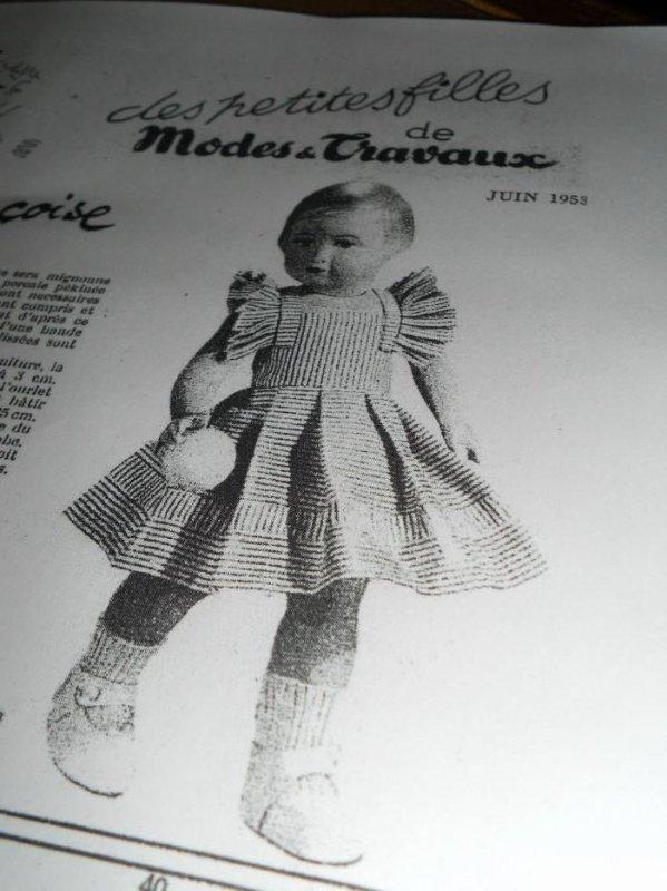 1953 juin / robe de jardin pour Françoise /terminer