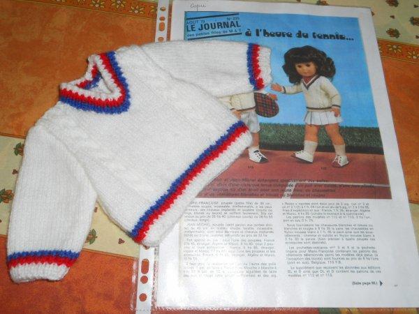 1973 Aout /a l'heure de Tennis /  Marie Françoise