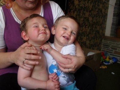 mes enfants Jordan et Dylan