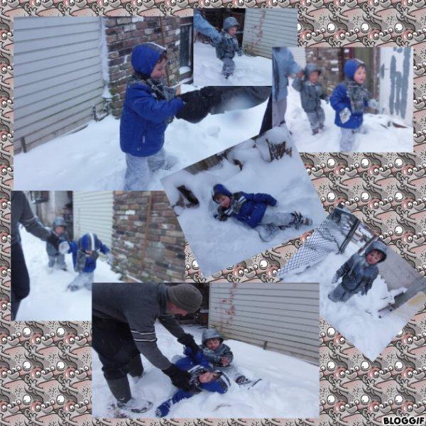 voilà mes enfants à la neige aujour'dui