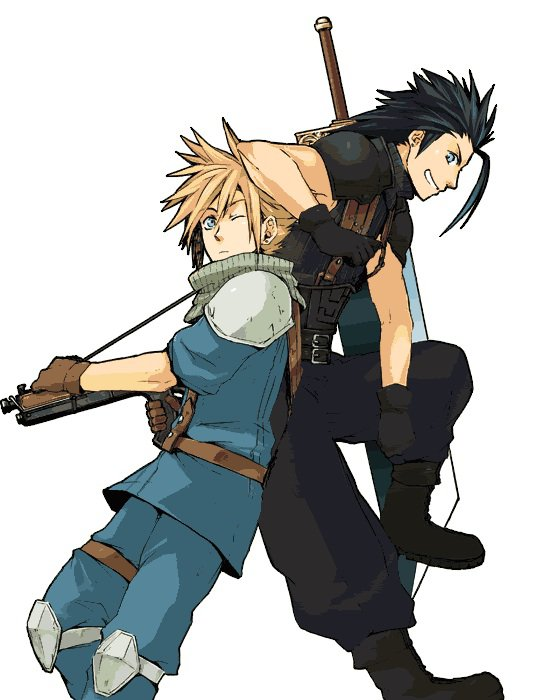 Zack et Cloud - Final Fantasy