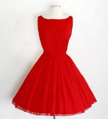 robe rouge style 50's