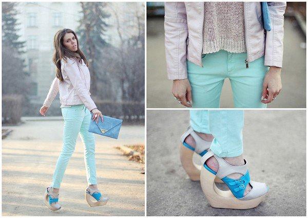 # 1 - Comment porter le jean coloré cet été ?