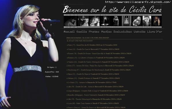 ~ Le site www.ceciliacara.fr ~
