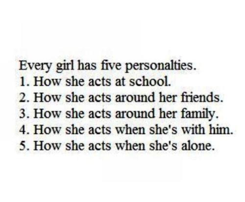 Nous avons tous plusieurs personalité
