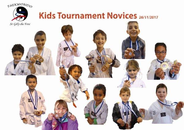 Kids Tournament Novices, le 26 novembre 2017