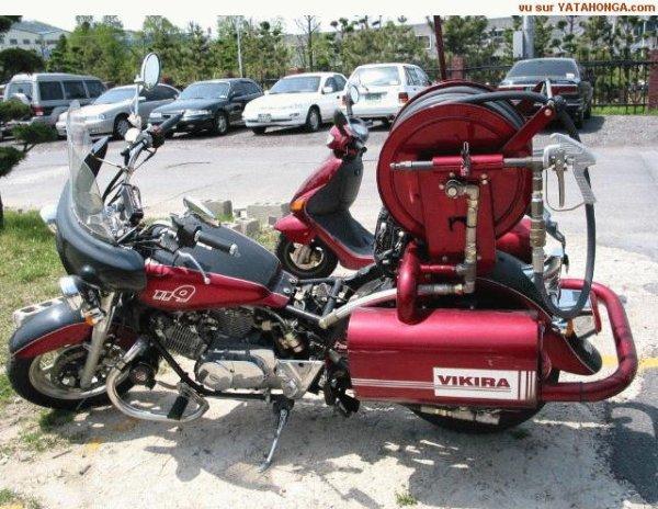 Pompier motard.
