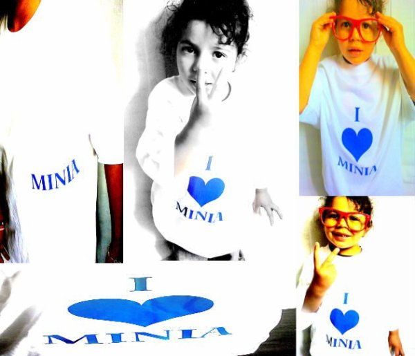 T-shirt Minia Blanc & Bleu