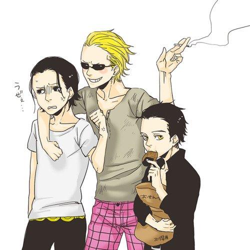 Three shishi ...