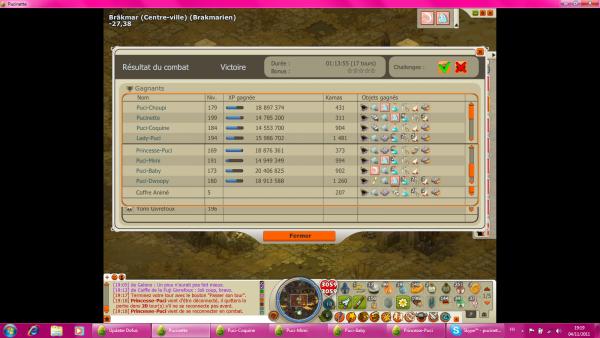 Dernière capture Tengu et Up 170 Princesse-Puci !