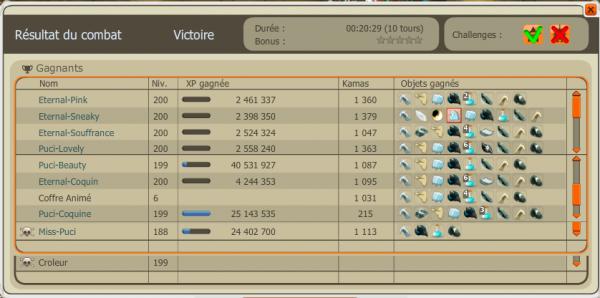 Up 200 de Puci-Coquine, et divers combat !