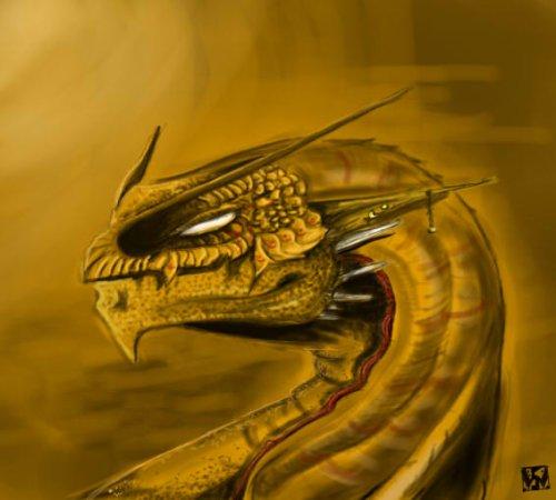 Portrait de Dragon Désertique