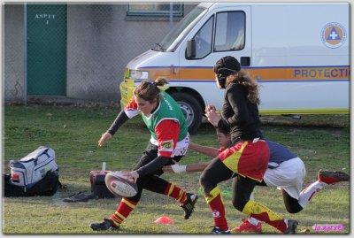 et voici mon essai au rugby :)