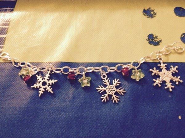 Mes créations bijoux bracelet Noël