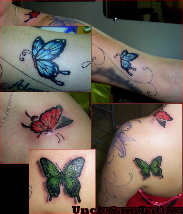 Fleur + arabesque + papillons
