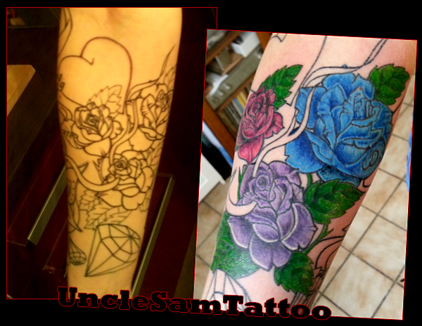 Coloried by Uncle Sam Tattoo