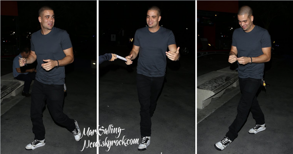 10/10/12 Mark assistait au concert de Madonna au Staples Center à Los Angeles