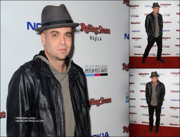 18/11/12 Mark était présent au The American Music Awards