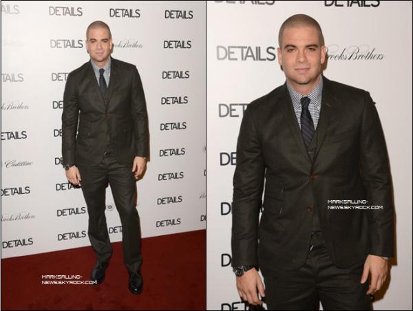 """29/11/12 Mark était présent au """"the DETAILS Hollywood Mavericks Party held at Soho House"""" à West Hollywood en Californie"""