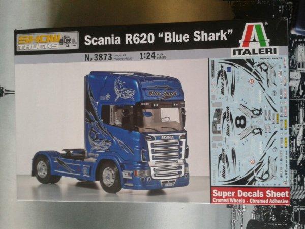 Scania R 620 blue shark