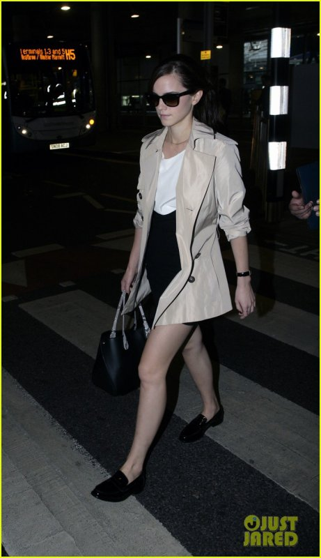 Emma Watson à l'aéroport Heathrow, Londres