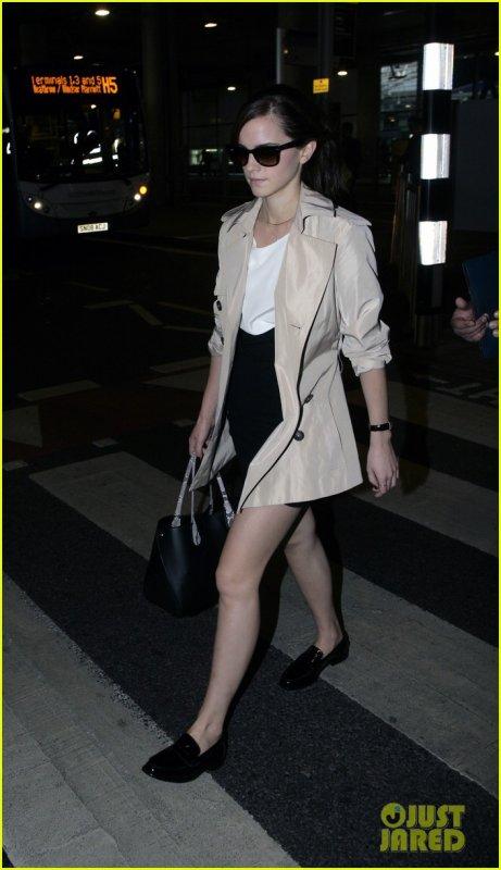 Emma Watson à l'aéroport Heathrow, Londres