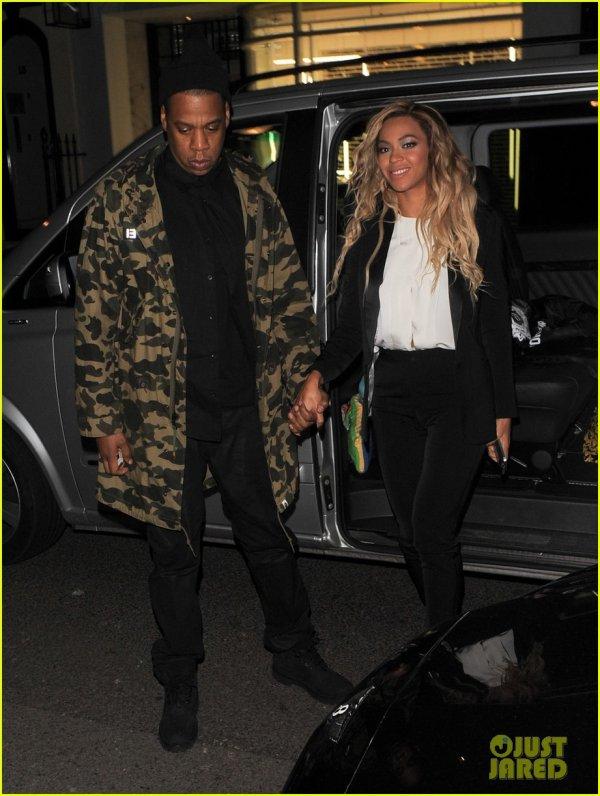 Beyonce & Jay-Z quittent le concert de Bee à Londres