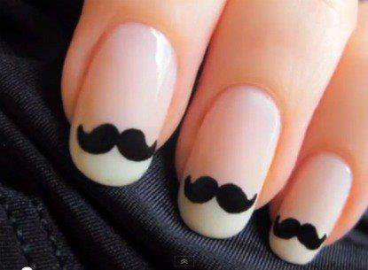 [NAIL ART Nº2] Moustache nails!